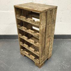 Bois de palettes récupéré vin Rack Rack vin bois de par CaisleyCo