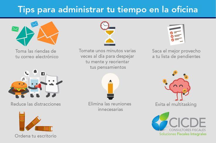 """Tips para administrar tu tiempo en el oficina #tiempo #oficina """"administrar #tips #emprender #trabajo"""