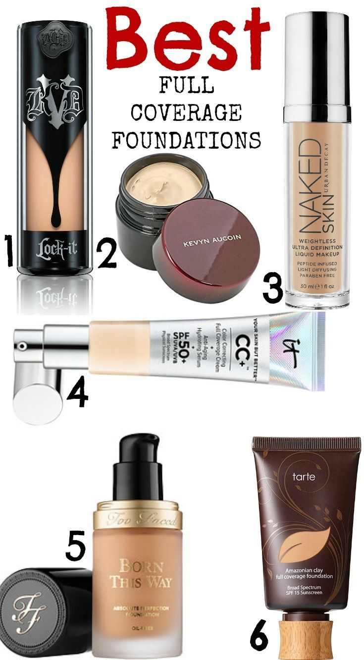 Best full coverage foundations- all cruelty free!