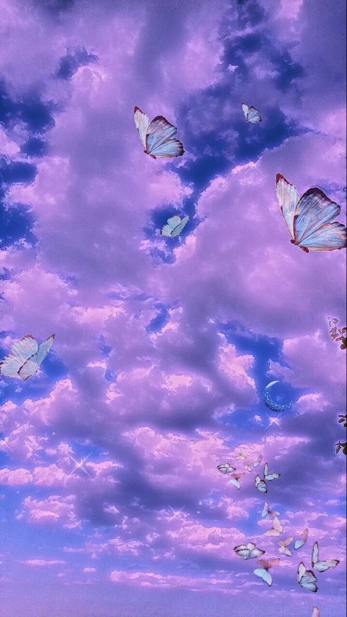 Aesthetic clouds   Butterfly wallpaper, Iconic wallpaper ...