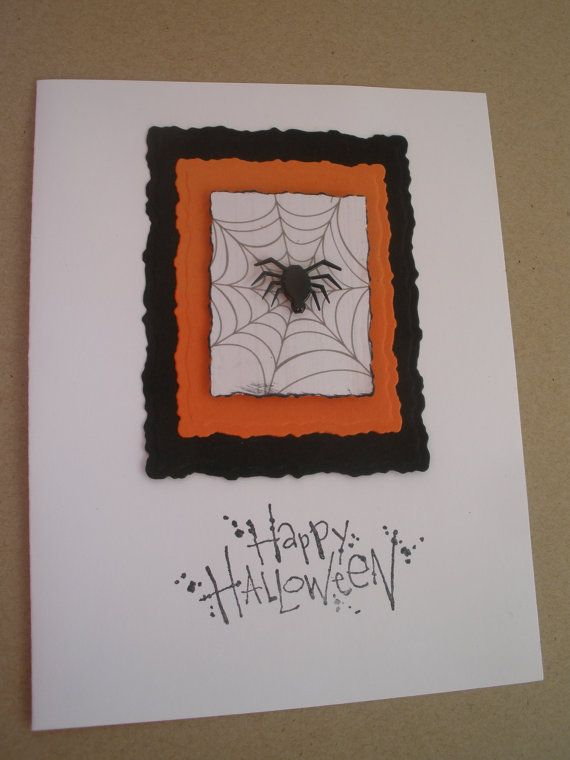 Handmade Spider in the Web Halloween Card by GreetingsfromDiana, $4.00
