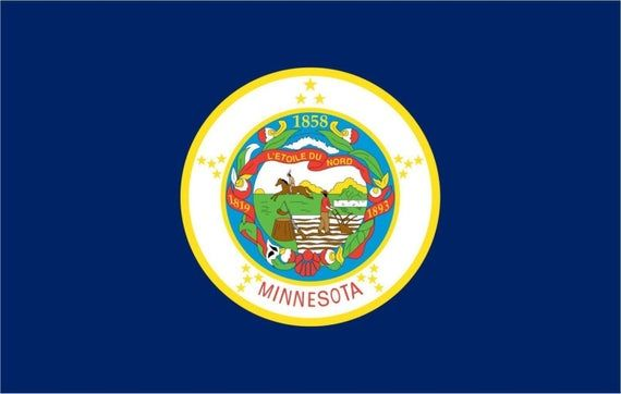MINNESOTA STATE FLAG VINLY DECAL STICKER MULTIPLE SIZES TO CHOOSE FROM