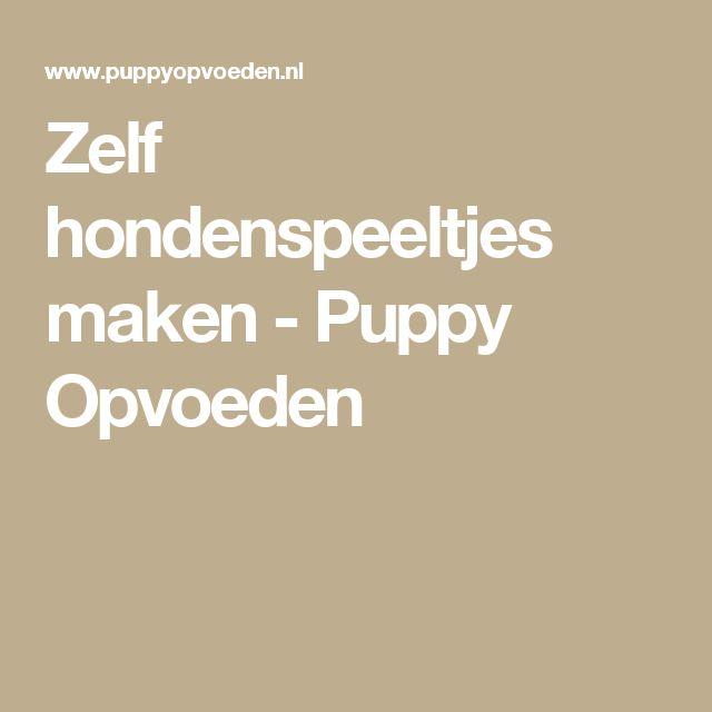 Zelf hondenspeeltjes maken - Puppy Opvoeden