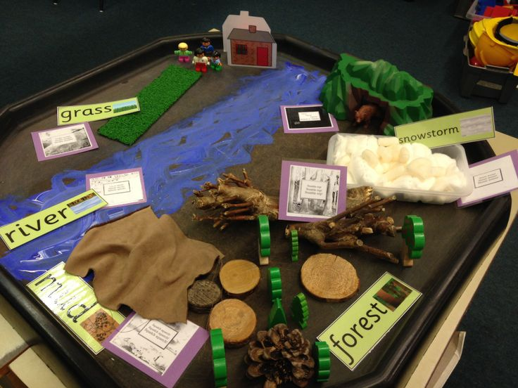 Bear hunt small world from my class