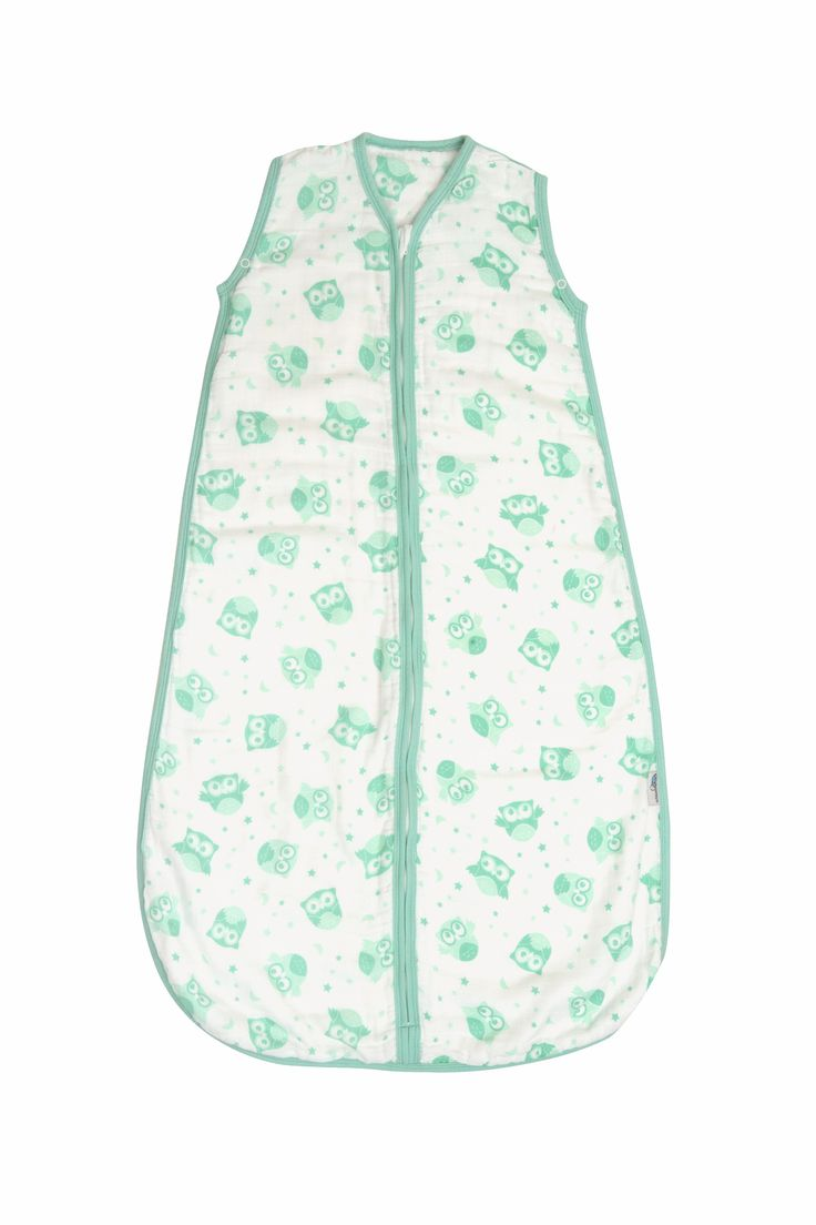 Musselin Sommerschlafsack  Mint Eule