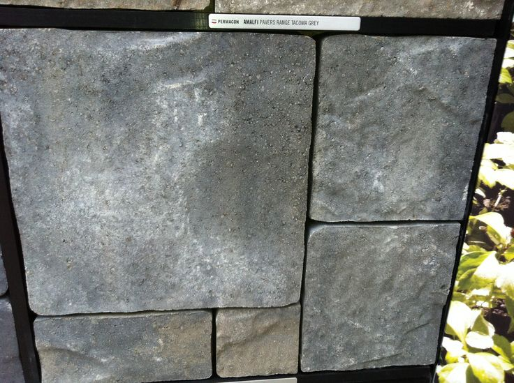 Permacon - Amalfi paver - Tacoma Grey colour blend