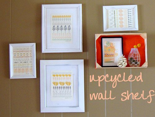 Turn a clementine crate into a wall shelf: DIY Wall Shadow Box with Recycled Materials