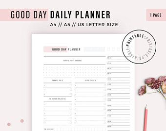 Daily Planner Online Daily Planner Sheets Productivity Planner Water Bottle Intake Goal Setting Journal Productivity Daily Gratitude A4 A5