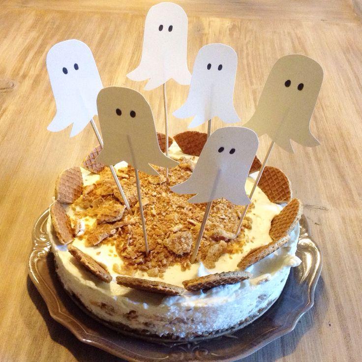 Monchou stroopwafeltaart met spookjes!