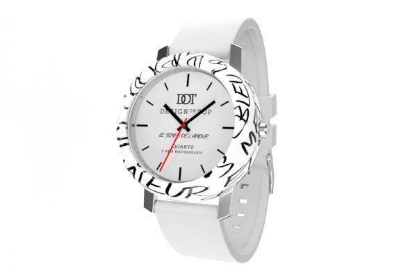 L'amour White - Design on Top - zegarki wykorzystujące kolorowy druk 3D. dot-shop.pl