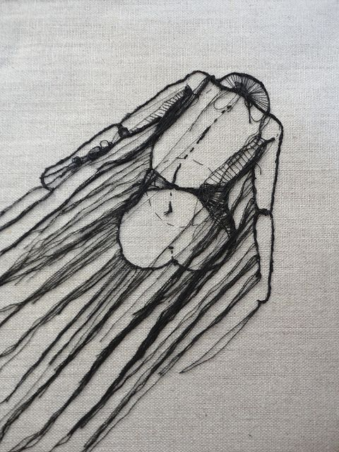 Embroidery sketching.