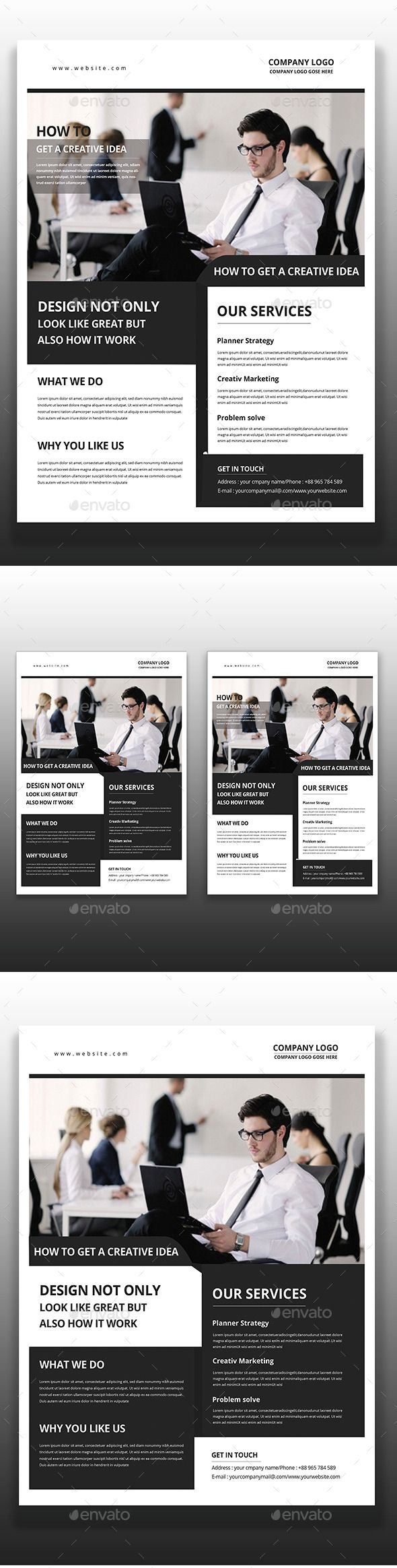 corporate flyer template simple house interiors and architecture