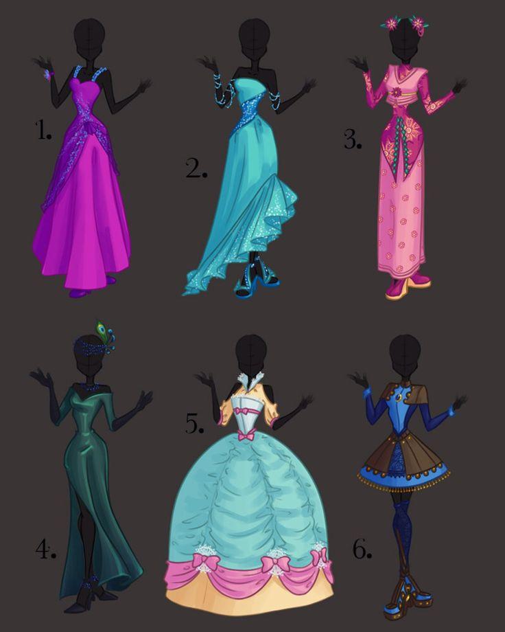 Misc. Dress Design Adoptables 1 by PrettieAngel on @DeviantArt