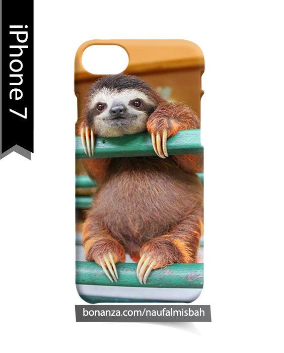 Sloth Baby Camera Picture Animal iPhone 7 Case Cover Wrap Around