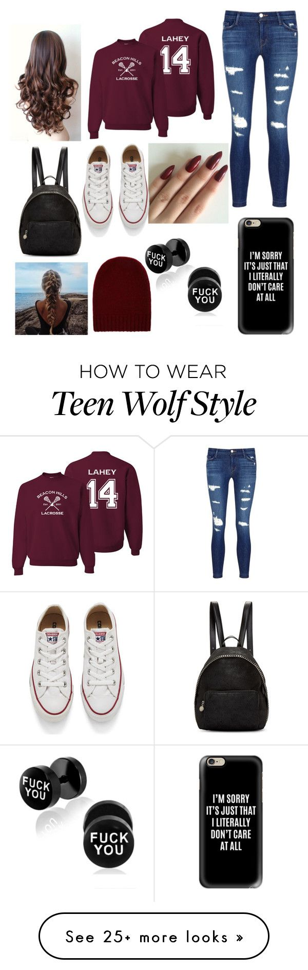 """Teen Wolf"" by trinity-salvatore on Polyvore featuring J Brand, Converse, STELLA McCARTNEY, Casetify and BCBGMAXAZRIA"