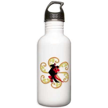 Tango for the World Sports Water Bottle on CafePress.com