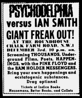 Psychodelphia vs Ian Smith, Pink Floyd, 1966-12-03