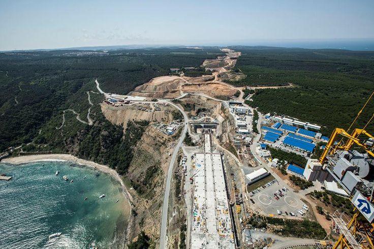Üçüncü Boğaz Köprüsü İnşaat- Eylül 2014