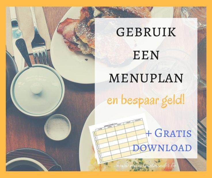 Gebruik een menuplan en bespaar geld. Met gratis weekmenuplanner.