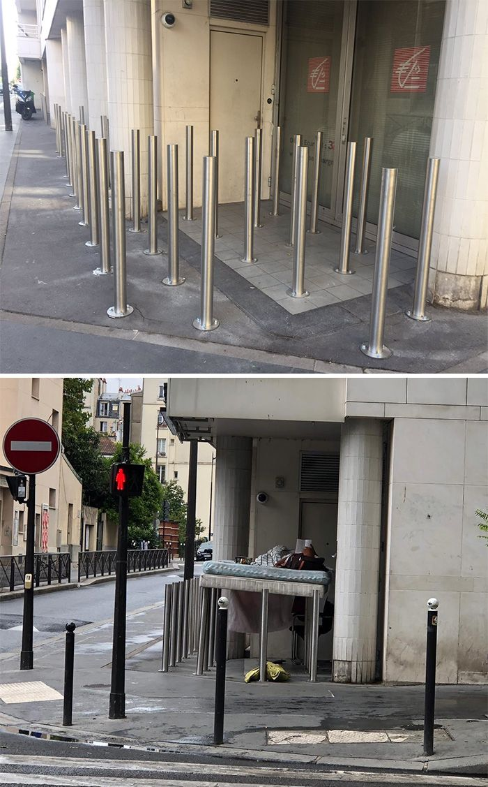 To Prevent The Homeless From Sleeping Here Architecture Improvise Adapt Overcome Funny Pictures