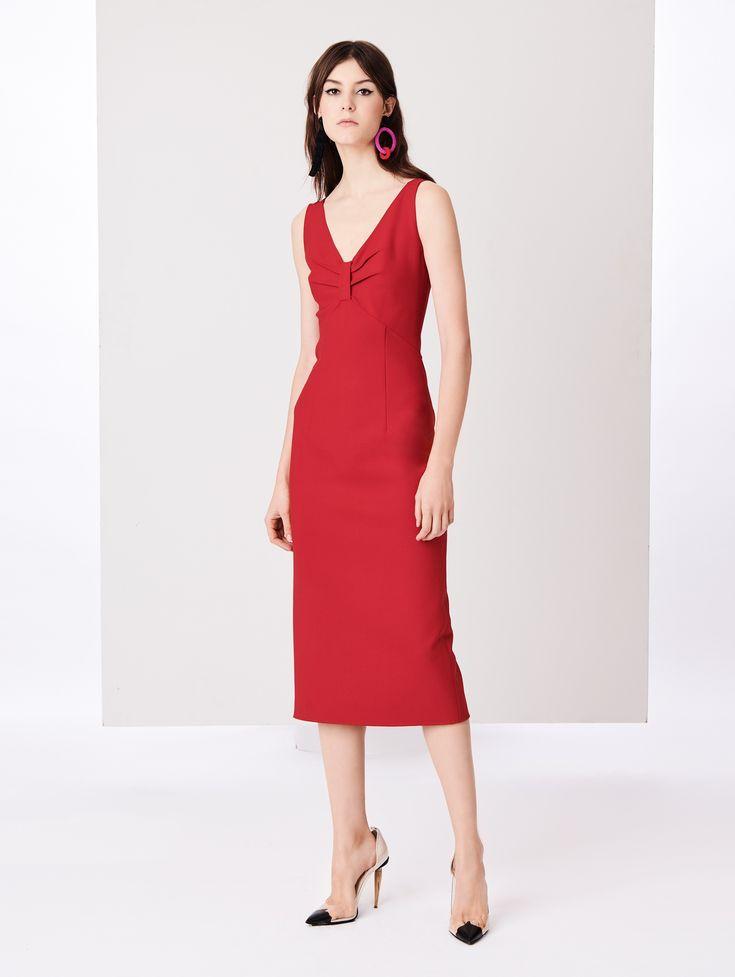 Oscar de la Renta - Stretch-Wool Pencil Dress