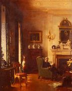 The Grey Drawing-Room  by Albert Chevallier Tayler