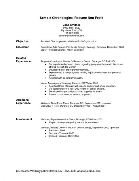 The 25+ best Chronological resume template ideas on Pinterest - secretary resume template