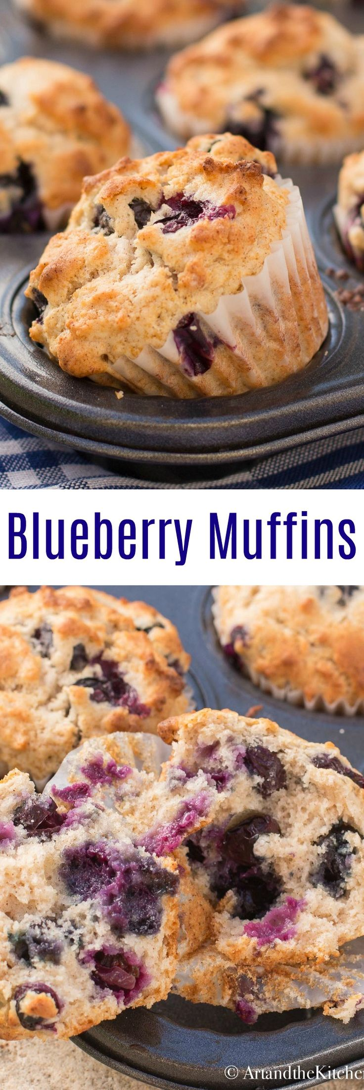 This recipe for Blueberry Muffins is buttery and moist, great for breakfast or anytime snack. #blueberrymuffins #muffins #blueberry
