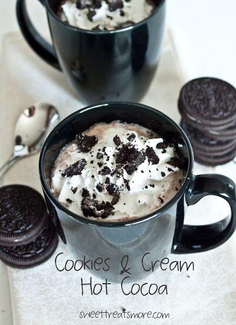 Cookies & Cream Hot Cocoa (in the Blendtec)