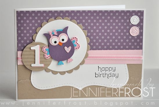 Sweet owl using Owl punch -- Pretty Heart, Papercraft by Jennifer Frost: Giggle and Hoot