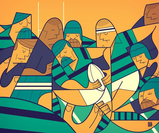 Rugby Art Print for a little boys room?