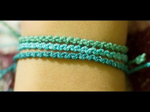 DIY pulsera triple, ¡Super facil! c/nudo macrame - YouTube