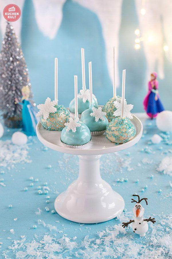 Eiskönigin Kindergeburtstag FROZEN Party Torte Cake Pops