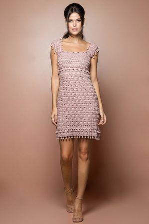 Vestido Crochet St. Tropez Madrepérola - Vanessa M - vanessamontoro