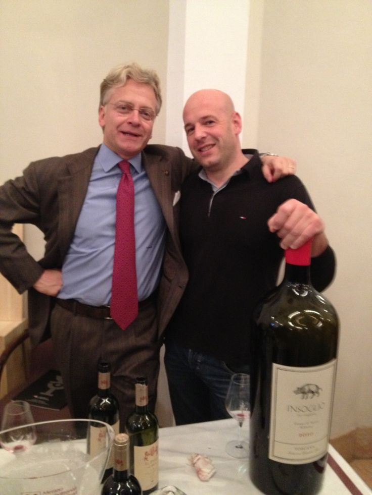 Io e Vittorio Mazzetti della Tenuta il Biserno