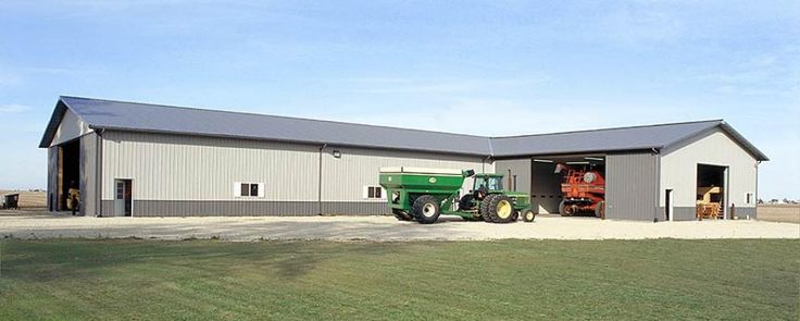 Combination farm shop and machine storage kankakee for Equipment shed