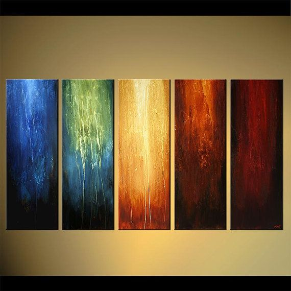 Original Contemporary Abstract Painting Large Colorful