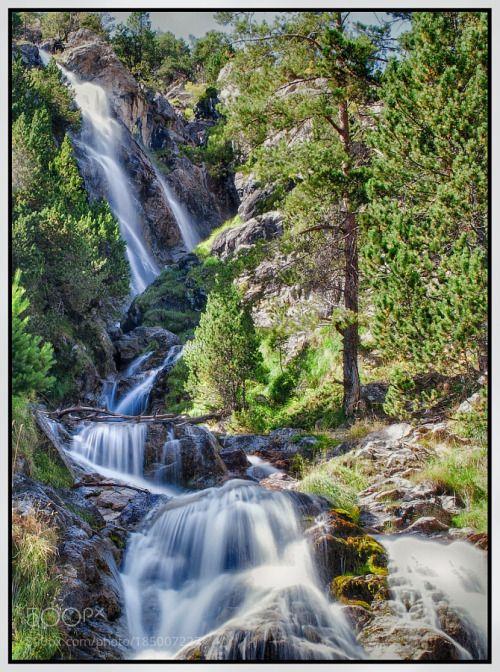 BALNEARIO PANTICOSA - Serie Natrue by zgzrock  trees sky lake forest sunset water river night sun clouds tree rocks green waterfall long exposure z