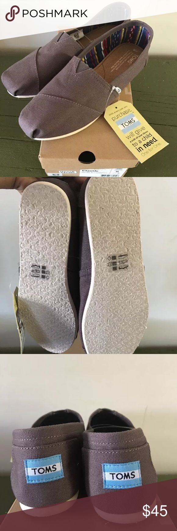 ✨✨NEW✨✨TOMS Shoes NWT TOMS Women's Shoes  Sizes available 7, 8, 9, 9.5 (true to size)  Color: Ash Canvas   Perfect condition - Brand New. Never worn. All original tags attached. Comes with original shoe box and TOMS sticker.   Rubber sole. Canvas material.   No Trades  15% OFF Bundle Deal for 2+ items TOMS Shoes Flats & Loafers