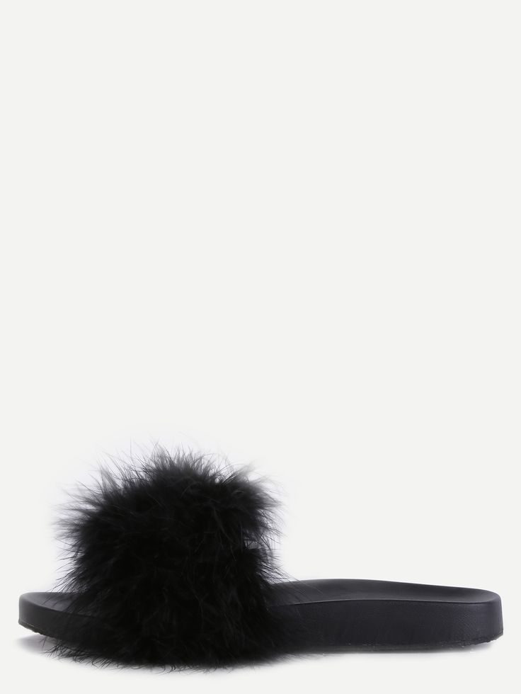 Shop Black Faux Fur Soft Sole Flat Slippers online. SheIn offers Black Faux Fur Soft Sole Flat Slippers & more to fit your fashionable needs.