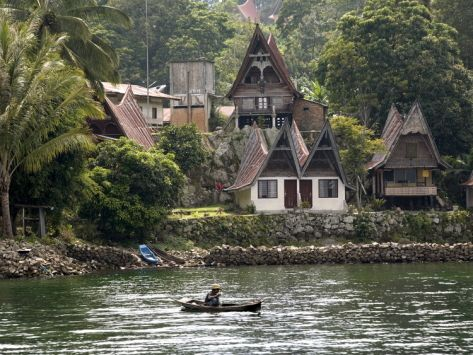 Samosir Island, Lake Toba, Sumatra, Indonesia,