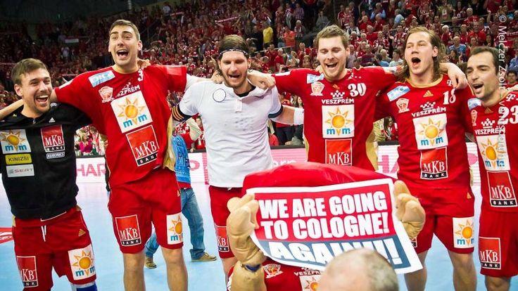 happy , victory against PSG , go to Cologne, Final 4, EHF CL again :D MKB Veszprém, pure joy , happiness, heroes, Máté Lékai, Péter Gulyás, László Nagy, Mirsad Terzic, Andreas Nilsson, Cristian Ugalde  photo: Zsolt Melczer