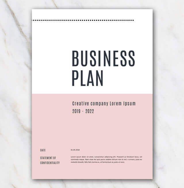 Creative Business Plan Template Inspirational Business Plan