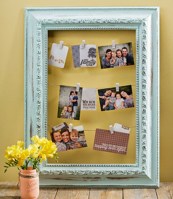 Diy Americana Decor Chalkyfinishpaint Clothespin Frame