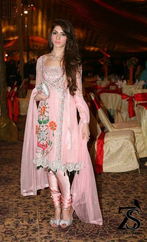 Zehra Saleem wearing her own design