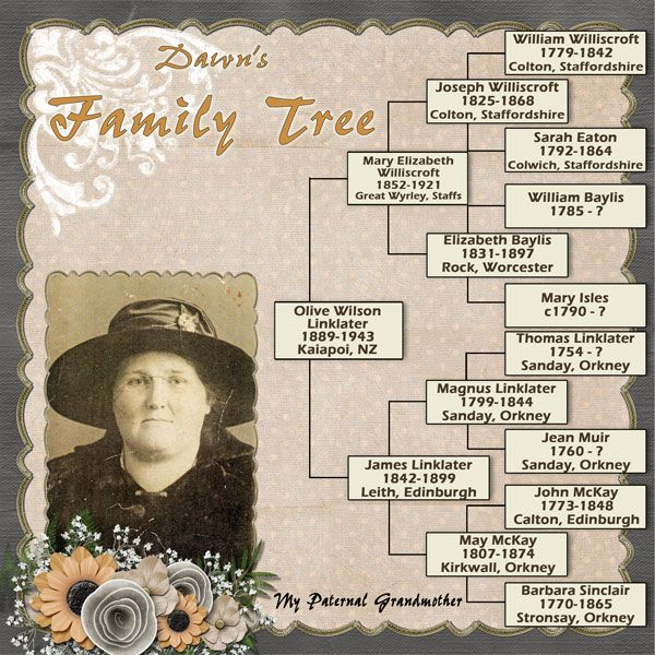 dawn s family tree a simple to read genealogical page the photo s
