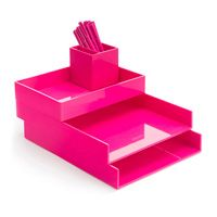 Pink Desktop Set   Oh How I Love Pink Office Supplies!