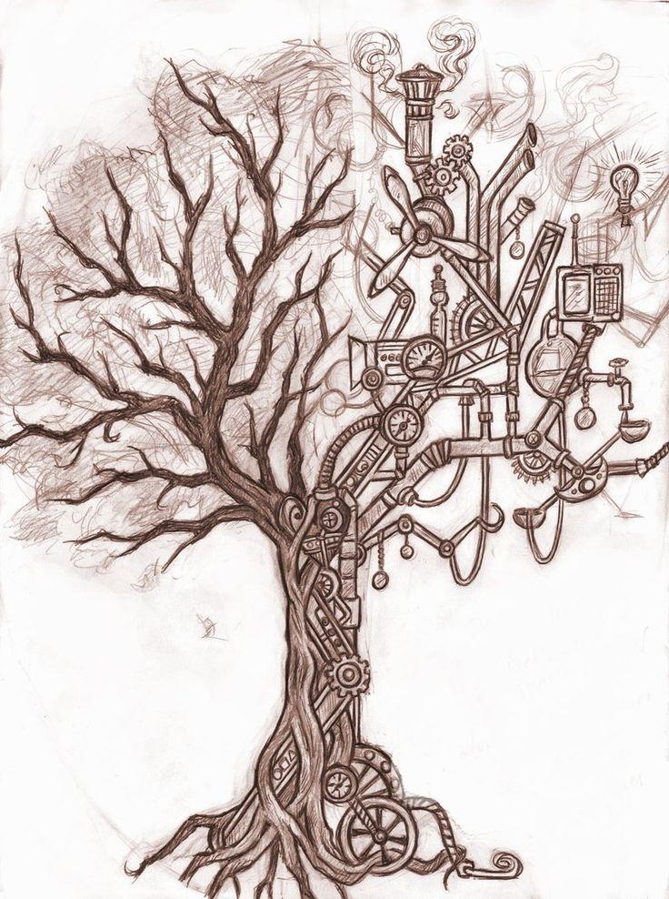Steampunk Tattoo Designs | steampunk tree by silverleopard designs interfaces tattoo design 2011 ...