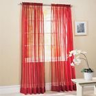1Pcs Door Window Curtain Drape Panel or Scarf Assorted Scarf Sheer Voile Red