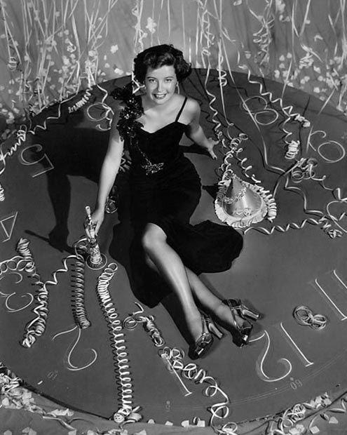 Gloria DeHaven- c.1949...Happy New Year...